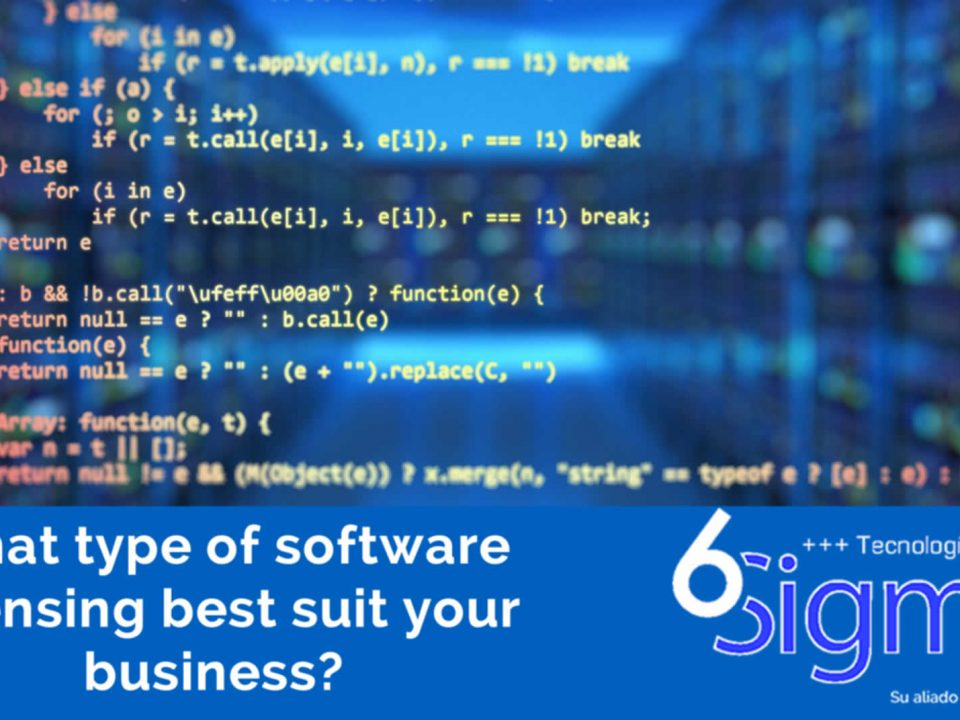 What type of software licensing best suit your business and how 6sigma it solutions can help you